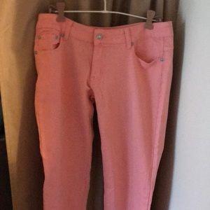 Denim - Puzzle jeans pink/apricot size 5/6